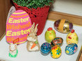 Easter decorations traditional polish inside a house Royalty Free Stock Photo