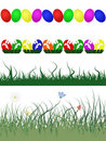 Easter decorative borders Stock Photo