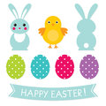 Easter design elements set Stock Photo