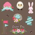 Easter design elements vector collection Stock Photos