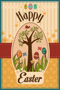 Easter design a vector illustration of card Stock Images