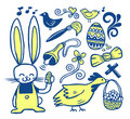 Easter doodles collection Royalty Free Stock Image