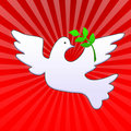 Easter dove with olive branch Stock Photography