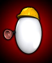 Easter egg that is also a plumber Royalty Free Stock Images