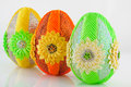 Easter egg as decoration your home Royalty Free Stock Photography