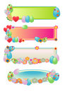 Easter Egg Banners Stock Photography
