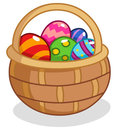 Easter egg basket Royalty Free Stock Photo