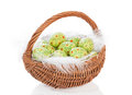 Easter Egg Basket Stock Photography