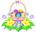 Easter Egg Basket with Flowers