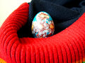 Easter egg beautiful painted eggs on a colorful background Royalty Free Stock Photo