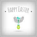 Easter egg bird nest Royalty Free Stock Images