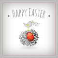 Easter egg bird nest Stock Photography