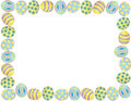 Easter egg border pastel colored Royalty Free Stock Image
