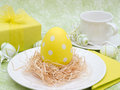 Easter Egg Breakfast Royalty Free Stock Photo