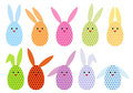 Easter egg bunnies, vector