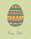 Easter egg card with colorful Royalty Free Stock Images