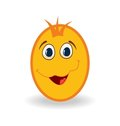 Easter egg character  on white background Stock Images