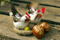 Easter egg chickens for decorating eggs and Stock Images