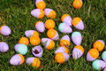 Easter egg cluster Royalty Free Stock Images