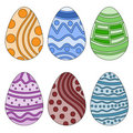 Easter egg collection Stock Images