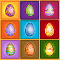 Easter egg color set Stock Photos