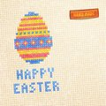 Easter egg cross stitched background vector illustration eps editable Stock Image