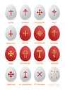 Easter egg with a cross the vector contains eggs crosses of various origin Stock Image