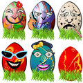 Easter egg emotions collection of different serial Stock Photo