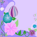 Easter Egg Floral Background Royalty Free Stock Photo