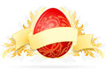 Easter Egg with Floral Decoration Stock Photography