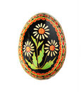 Easter egg with floral design Stock Photo