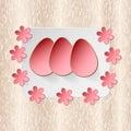 Easter egg on flower vector background