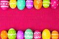 Easter Egg Frame On Pink