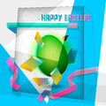 Easter egg geometric Royalty Free Stock Image