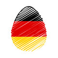 Easter egg german flag striped drawing holiday concept Royalty Free Stock Image