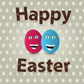 Easter egg greeting card design vector Stock Photography