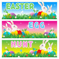 Easter Egg Hunt invitation, card, poster Royalty Free Stock Images