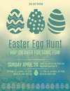 Easter egg hunt invitation flyer beautiful Royalty Free Stock Image