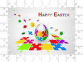 Easter Egg Jigsaw Puzzle Background Royalty Free Stock Images