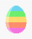 Easter egg on a light background knitted striped greeting card vector illustration Stock Image