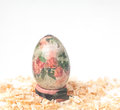 Easter egg made decoupage methods Royalty Free Stock Image