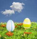 Easter egg in the meadow Stock Photography