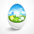 Easter egg with a natural background vector Stock Images