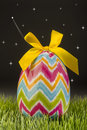 Easter egg at night with stars streaking Stock Photography