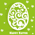 Easter egg openwork appliqués postcard Stock Image