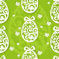 Easter egg openwork seamless background Stock Images