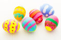 Easter egg painted close up Royalty Free Stock Images