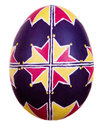 Easter egg painted in folk style Royalty Free Stock Photo