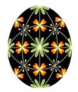 Easter egg with a painted pattern, 48 wedges. The symbol of Easter. An ancient tradition of people. Vector illustration