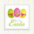 Easter egg panel Stock Images